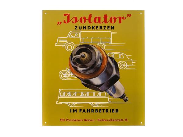 "Blechschild ""Isolator Zündkerzen TOP"",  10005625 - Bild 1"