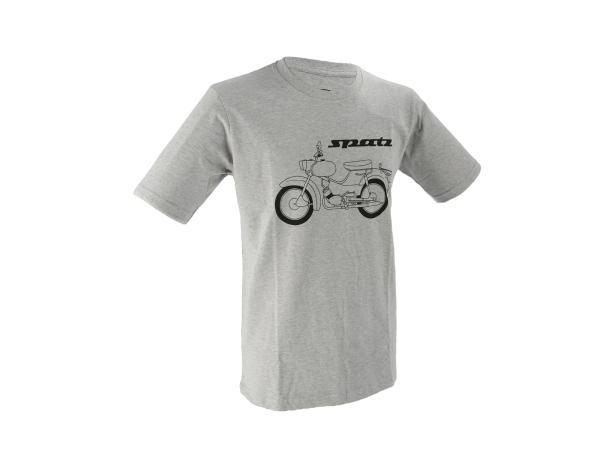 """Basic-Shirt """"Spatz"""" - Hellgrau meliert,  10070793 - Bild 1"""