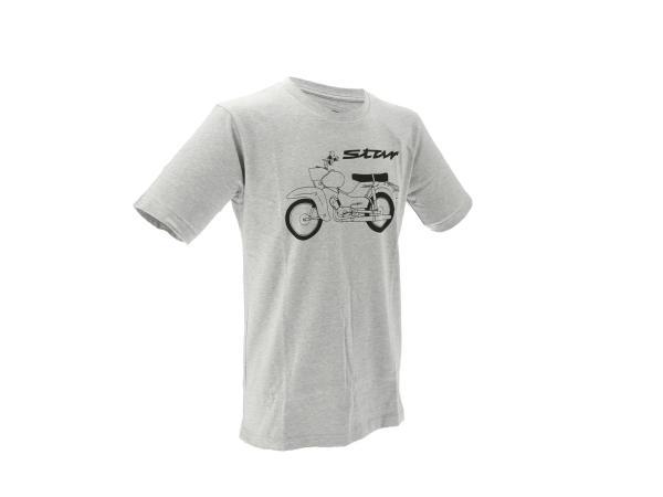 "Basic-Shirt ""Star"" - Hellgrau meliert,  10070800 - Bild 1"