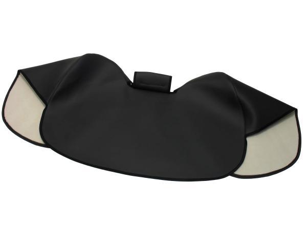 Knieschutzdecke schwarz, gefüttert, Handarbeit - für Simson S50, S51, S70,  10041112 - Bild 1