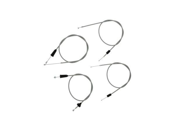 Set: 4 Bowdenzüge grau, Flachlenker - MZ ETS 250,  10069809 - Bild 1