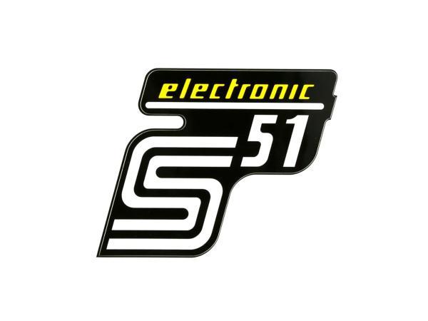 """Klebefolie Seitendeckel """"S51 electronic"""" - Gelb,  10071163 - Bild 1"""