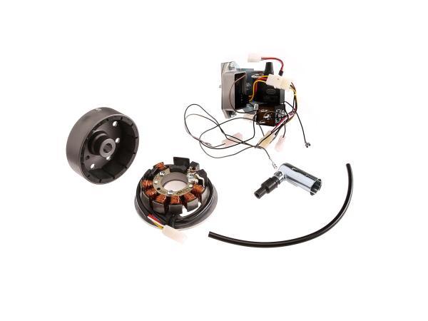 Set: Umrüstsatz VAPE auf 12V, Magnete vergossen (ohne Batterie und Leuchtmittel) - Simson SR50, SR80,  10022673 - Bild 1