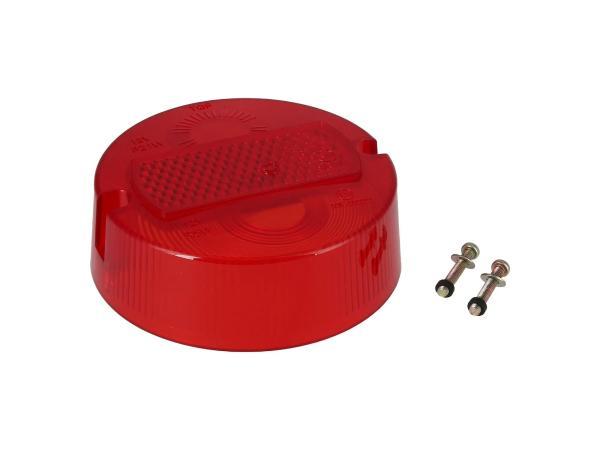 Rücklichtkappe rund, rot, Ø100mm - Simson S50, KR51/2 Schwalbe,  10001667 - Bild 1