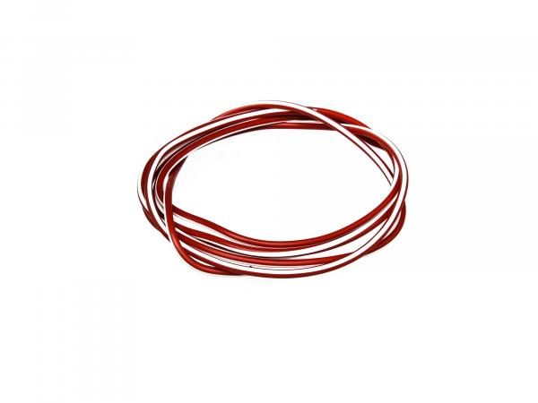 10001780 Kabel - Rot/Weiß 0,50mm² Fahrzeugleitung - 1m - Bild 1