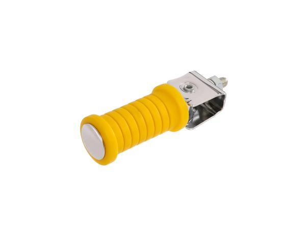 10054987 Beifahrerfußraste gelb/chrom (passend für Motorrad MZ) - Bild 1