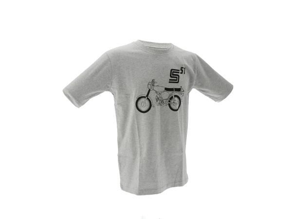 """Basic-Shirt """"S51"""" - Hellgrau meliert,  10070821 - Bild 1"""