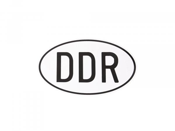 "Aufkleber ""DDR"" 105x65mm, oval,  10066978 - Bild 1"