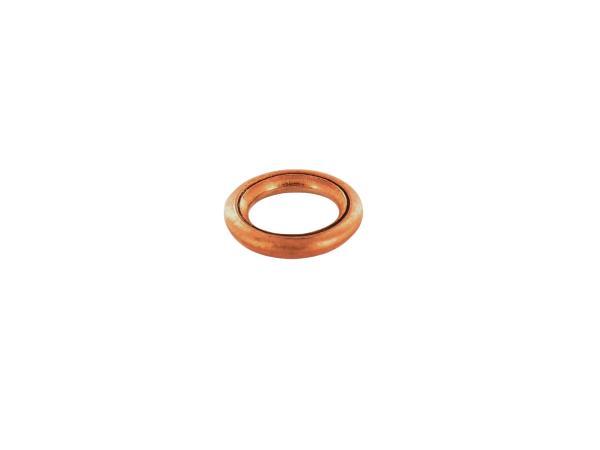Fülldichtring Ø 6x10 DIN 7603, Kupfer für Kupplungsdeckel - für Simson S50, SR2, Schwalbe KR51/1,  10021079 - Bild 1