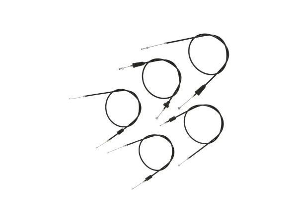 Set: 5 Bowdenzüge schwarz, Flachlenker - MZ TS 250, 250/1,  10069823 - Bild 1