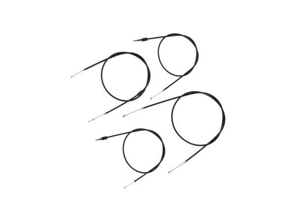 Bowdenzug-Set in Schwarz, Enduro + 100mm Überlänge - Simson S51, S70, S53, S83,  10070053 - Bild 1
