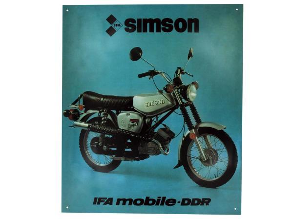 Blechschild - SIMSON S51E Enduro,  10044017 - Bild 1
