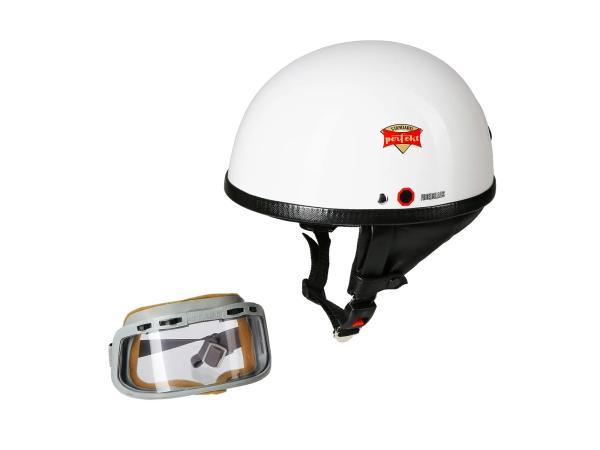 """SET: Schutzhelm """"PERFEKT"""" Modell P-500 weiß - mit DDR-Schutzbrille """"START"""",  10065330 - Bild 1"""