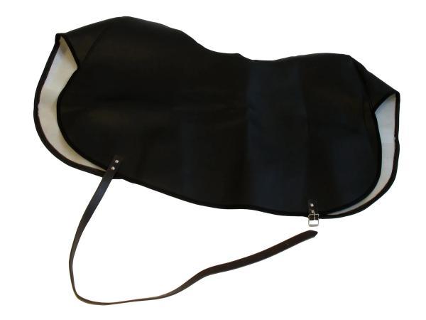 Knieschutzdecke schwarz, gefüttert, Handarbeit - für Simson SR4-1, SR4-2, KR50, KR51,  10043979 - Bild 1