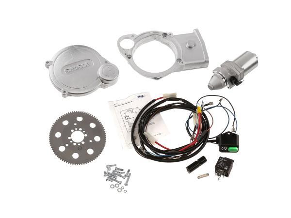 Set: Elektrostarter, Anlasser für PVL+ EMZA-Zündungen - Simson SR50, SR80, SD50,  GP10000540 - Bild 1