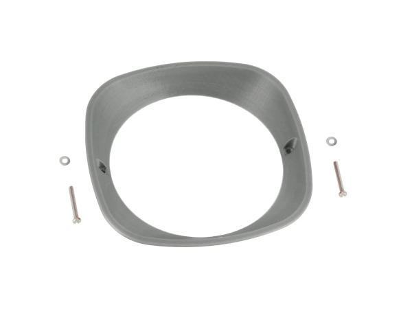 10070940 Scheinwerferring 3D, Silber - für Simson KR51 Schwalbe, SR4-2 Star, SR4-3 Sperber, SR4-4 Habicht - MZ ES125, ES150 - IWL TR150 Troll - Bild 1