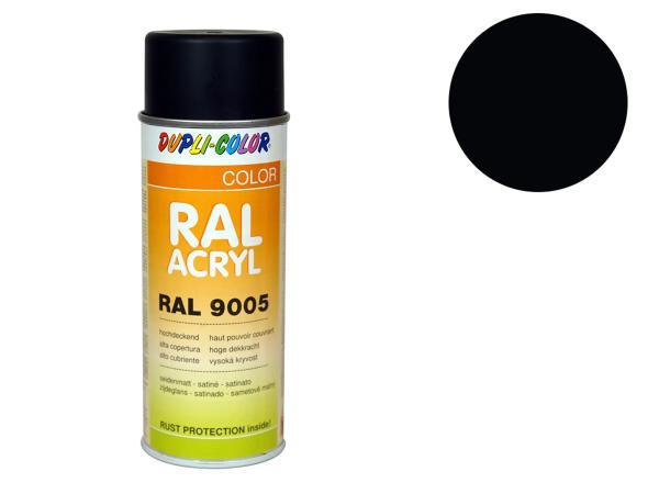 Dupli-Color Acryl-Spray RAL 9005 tiefschwarz, seidenmatt - 400 ml,  10064881 - Bild 1