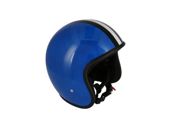 """ARC Helm """"Modell A-611"""" Retrolook - Blau mit Streifen,  10069591 - Bild 1"""