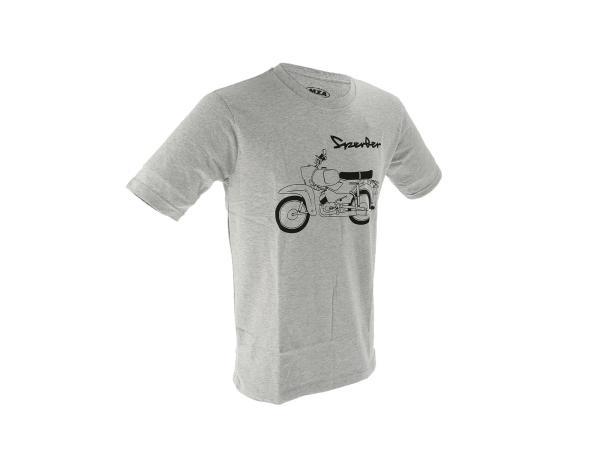 "Basic-Shirt ""Sperber"" - Hellgrau meliert,  10070807 - Bild 1"