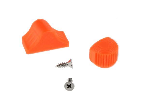 10069052 Set: Abblend- & Blinkerschalterknopf 3D, Orange - für S51, S70, SR50, SR80, ETZ - Bild 1