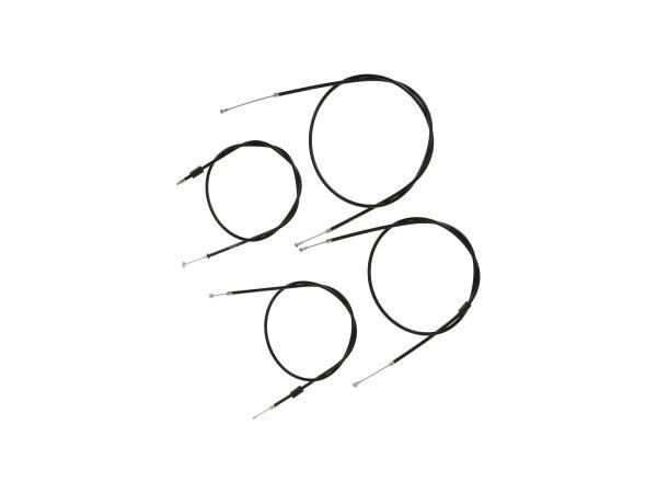 10070052 Bowdenzug-Set in Schwarz, Enduro + 75mm Überlänge - Simson S51, S70, S53, S83 - Bild 1
