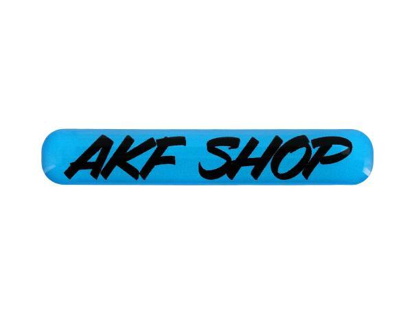 "Gelaufkleber - ""AKF Shop"" blau/schwarz,  10070614 - Bild 1"
