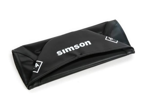 Sitzbezug strukturiert, schwarz für Endurositzbank mit SIMSON-Schriftzug - Simson S50, S51, S70 Enduro,  10002833 - Bild 1