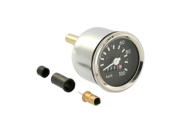 Tachometer, mit Chromring und Blinkkontrolle, bis 100kmh,  10071205 - Bild 1