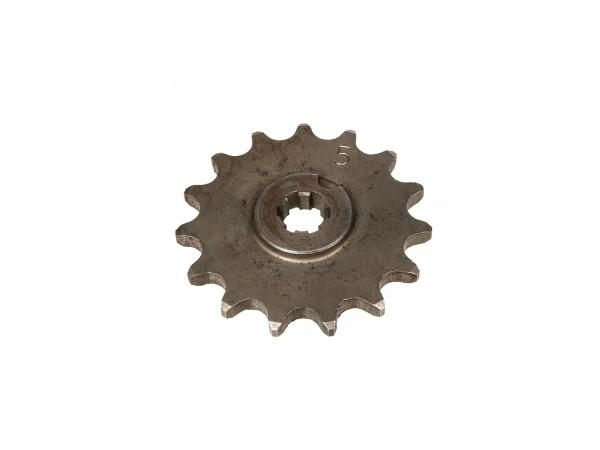 Ritzel, kleines Kettenrad, 15 Zahn - für Simson S50, KR51/1 Schwalbe, SR4-2 Star, SR4-3 Sperber, SR4-4 Habicht,  10000475 - Bild 1