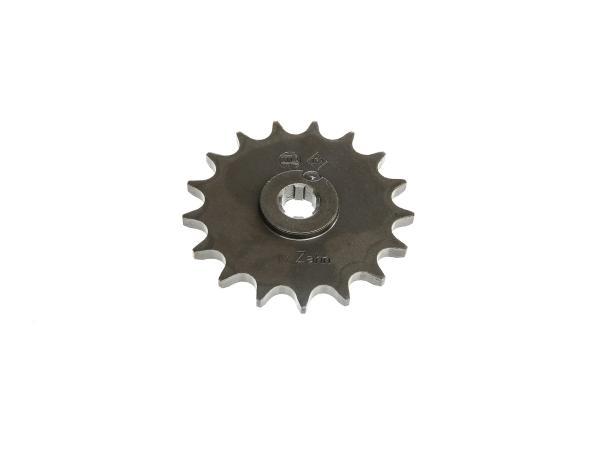 Ritzel, kleines Kettenrad, 17 Zahn - für Simson S50, KR51/1 Schwalbe, SR4-2 Star, SR4-3 Sperber, SR4-4 Habicht,  10057222 - Bild 1