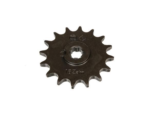 Ritzel, kleines Kettenrad, 16 Zahn - für Simson S50, KR51/1 Schwalbe, SR4-2 Star, SR4-3 Sperber, SR4-4 Habicht,  10000476 - Bild 1