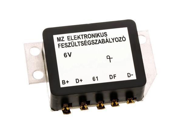 10068239 Spannungsregler 6V elektronisch - für MZ ES125, ES150, ES175, ES250, ES 300, TS125, TS150, TS250 - Bild 1