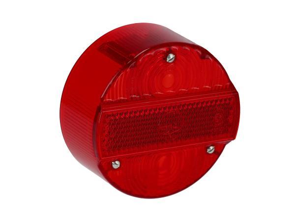 10068967 Rücklichtkappe rund, rot, Ø120mm ohne KZB - Simson S50, S51, S70, S53, S83, KR51/2 Schwalbe, SR50, SR80 - Bild 1