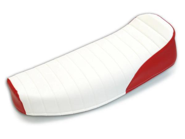 10062785 Sitzbezug strukturiert, weiß/rot ohne Schriftzug - für Simson S50, S51, S70, KR51/2 Schwalbe, SR4-3 Sperber, SR4-4 Habicht - Bild 1