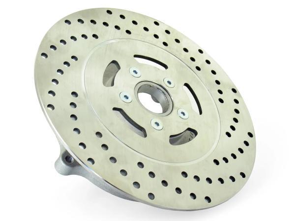 Bremsscheibenträger mit Bremsscheibe ø 220  Edelstahl  -  SRA50  Automatikroller mit schmaler Felge,  10060109 - Bild 1
