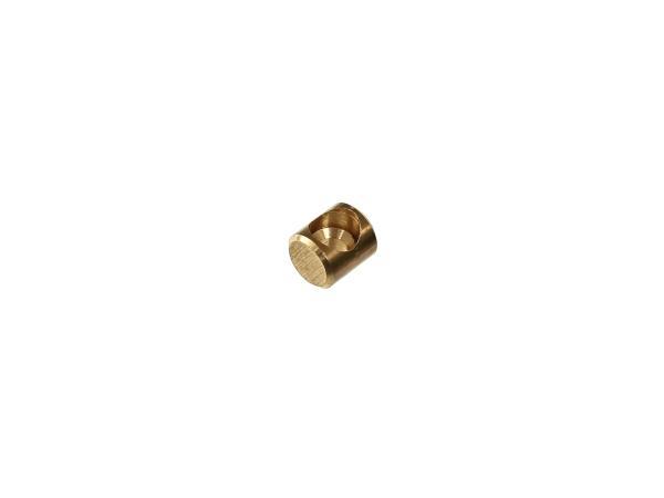 Nippelaufnahme (Vollnippel - ungeschlitzt) für Bowdenzug Simson S51, S50, SR50, Schwalbe, SR4,  10054874 - Bild 1