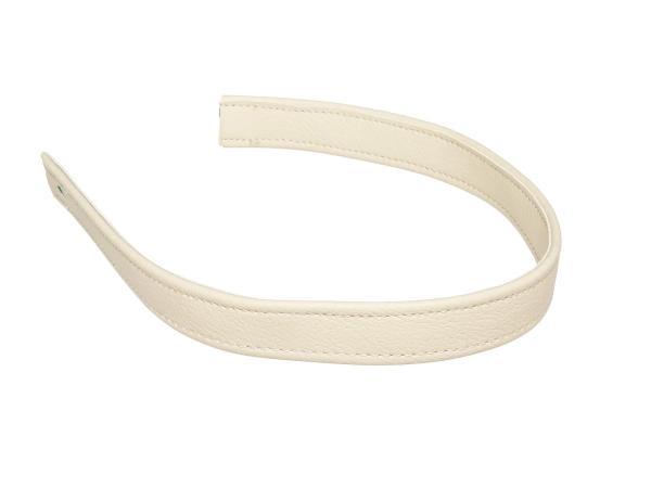 10065518 Halteriemen für Sitzbank elfenbein mit Ziernaht in Elfenbein - Handarbeit - Bild 1