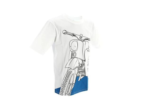 """T-Shirt """"Schwalbe Olympiablau"""" - Weiß,  10070786 - Bild 1"""