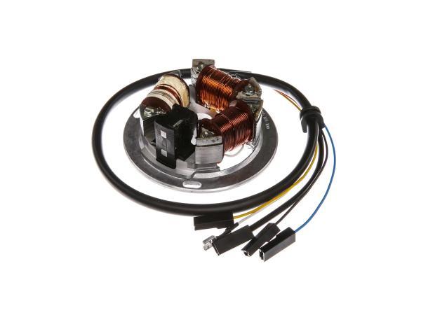 10055133 Grundplatte 8305.1/1-100, 6V Elektronik, 35/21W Bilux - für Simson S51, S70, KR51/2 Schwalbe - Bild 1