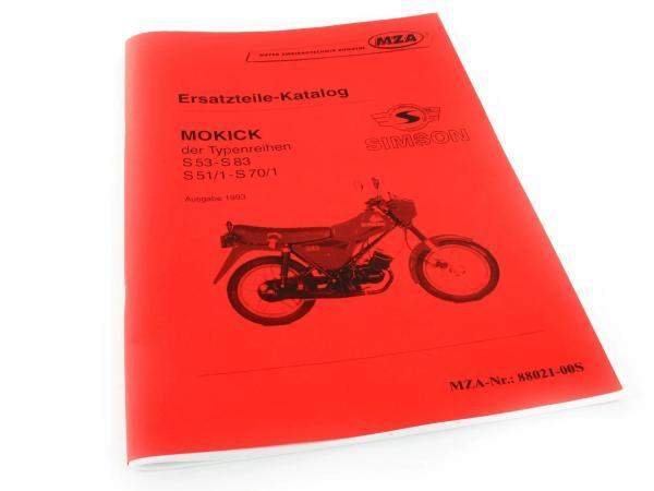 Buch - Ersatzteilkatalog Simson Mokick S53-S83, S51/1-S70/1, Ausg.1993,  10016882 - Bild 1