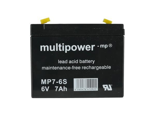 Batterie 6V 7Ah Multipower (Gelbatterie),  GP10000569 - Bild 1