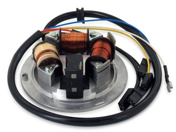 Grundplatte 8305.1/4-100, 6V Elektronik, 35/21W Bilux - für Simson S51, S70,  10055134 - Bild 1