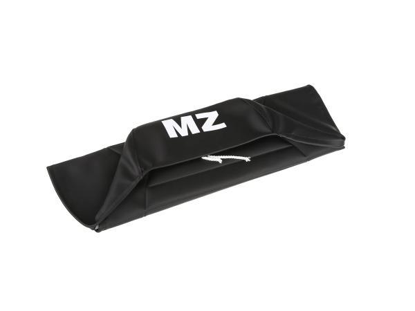 Sitzbezug strukturiert, schwarz mit MZ-Schriftzug - für MZ ETZ125, ETZ150, ETZ251, ETZ301,  10055997 - Bild 1