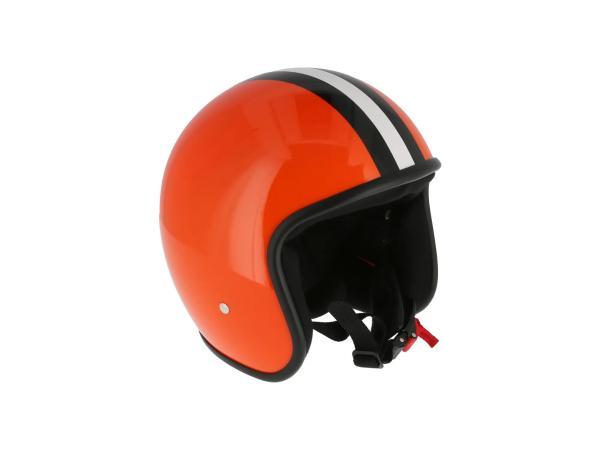 """ARC Helm """"Modell A-611"""" Retrolook - Orange mit Streifen,  10071216 - Bild 1"""
