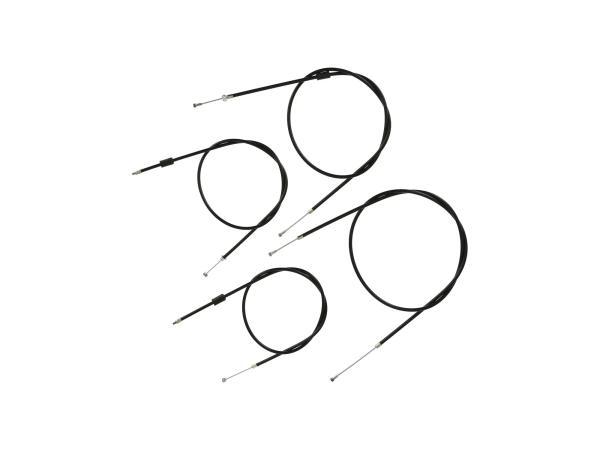 Bowdenzug-Set in Schwarz, Enduro + 25mm Überlänge - Simson S51, S70, S53, S83,  10070050 - Bild 1