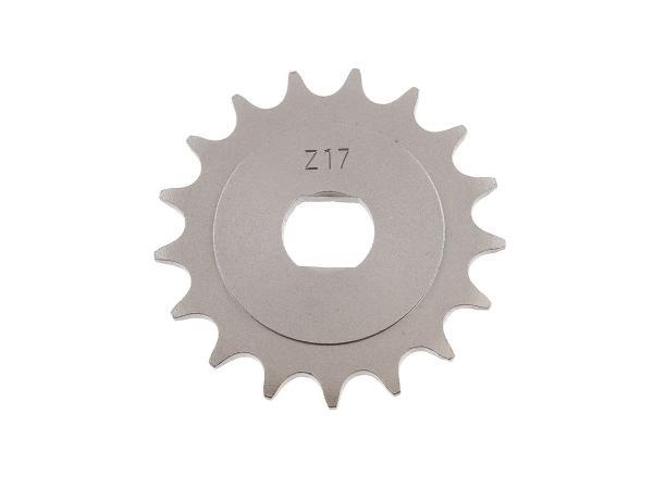 Ritzel, kleines Kettenrad, 17 Zahn - Simson S51, S70, S53, S83, KR51/2 Schwalbe, SR50, SR80,  10067111 - Bild 1