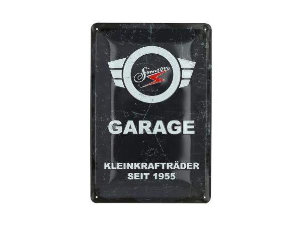 "Blechprägeschild ""SIMSON-Garage"" 20x30 cm, grau/weiß,  10070952 - Bild 1"