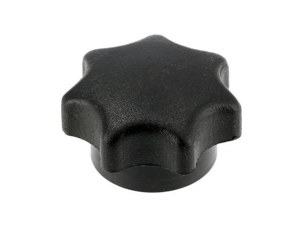 Sterngriffmutter M6, schwarz, lange Ausführung, ohne Druckscheibe, passend für ES, TS, SIMSON,  10060931 - Bild 1