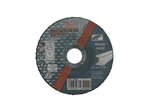 10068018 Metalltrennscheibe, Ø115 x 2,5mm - Bild 1