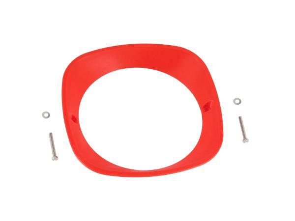 Scheinwerferring 3D, Rot - für Simson KR51 Schwalbe, SR4-2 Star, SR4-3 Sperber, SR4-4 Habicht - MZ ES125, ES150 - IWL TR150 Troll,  10070936 - Bild 1